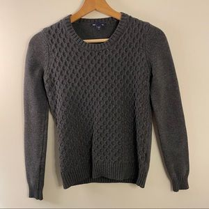 GAP Grey Knit Honeycomb Sweater